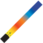 Levy's Guitar Strap, Glowing Cross MPS2036