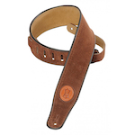 Levy's Guitar Strap, Suede Leather Brown MSS3BRN