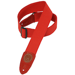 Levy's Guitar Strap, 2in Cotton Red MSSC8RED
