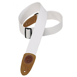 Levy's Guitar Strap, 2in Cotton White MSSC8WHT