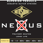 Rotosound 10-50 Nexus Coated Acoustic Guitar Strings, Phosphor Bronze NXA10