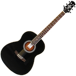 Ashton OM Shaped Acoustic Guitar, Black OM24BK