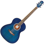 Ashton OM Shaped Acoustic Guitar, Trans Blue Burst OM24TBB