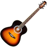 Ashton OM Shaped Acoustic Guitar, Tobacco Sunburst OM24TSB