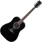 Ibanez Acoustic Guitar, Black PF15BK