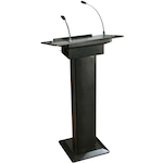 ITC Audio Lectern with Built in Amp and Microphone PL60BBK