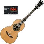 Ibanez Acoustic PN1 Parlour Guitar with GU1 Tuner, Natural PN1NT-GU1