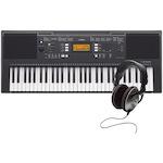 Yamaha PSRE343 Portable Keyboard and Headphones PSRE343-HD25