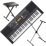 Yamaha PSRE343 Keyboard, Stand and Bench PSRE343-KSS98-KS75