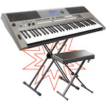 Yamaha PSRE443 Portable Keyboard Package with Stand and Stool PSRE443-KSD98-KS100