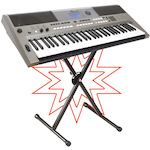Yamaha PSRE443 Portable Keyboard Package with KSS98 Stand PSRE443-KSS98