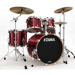 Tama Starclassic Birch/Bubinga 5-piece Rock Shell Kit, Garnet Red Glitter PX52SGRG