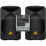 Behringer Q1204USB Mixer and B112W Powered Speaker Package Q1204USB-B112W