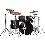 ddrum Reflex RSL 5-Piece Drum Kit, Black Satin REFLEXRSL225PCBKS