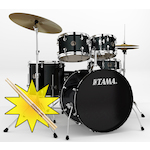 Tama RM Rhythm Mate Drum Kit with HT10S Throne and FREE Sticks, Black RM52KH4CBK-HT10S