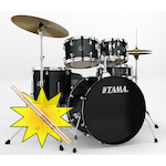 Tama RM Rhythm Mate Drum Kit with HT10S Throne and FREE Sticks, Charcoal Mist RM52KH4CCCM-HT10S
