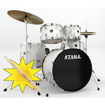 Tama RM Rhythm Mate Drum Kit with HT10S Throne and FREE Sticks, White RM52KH4CWH-HT10S