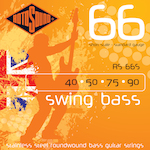Rotosound Short Scale Bass Strings 40-90 Stainless Steel RS66S