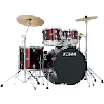 Tama Stagestar 5-piece Rock Drum Kit, Wine Red SG52KH6CWR