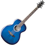 Ashton Slimline Acoustic Guitar, Transparent Blue SL29TBB