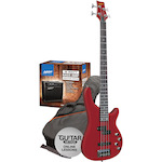 Ashton Bass Pack with 18w Amp, Transparent Red SPAB4TRD