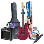 Ashton Electric Guitar Pack & Amp, L/Hand, Red SPAG131LTRD