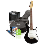 Ashton Electric Guitar Pack & Amp, Black SPAG132BK