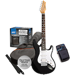 Ashton Electric Guitar Pack and Amp with SF50CH Chorus Pedal, Black SPAG232BK-SF50CH