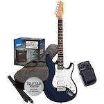 Ashton Electric Guitar Pack and Amp with SF50CH Chorus Pedal, Blue SPAG232TRB-SF50CH