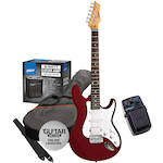 Ashton Electric Guitar Pack and Amp with SF50CH Chorus Pedal, Red SPAG232TRD-SF50CH