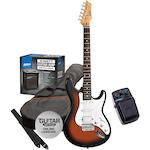 Ashton Electric Guitar Pack and Amp with SF50CH Chorus Pedal, Sunburst SPAG232TSB-SF50CH
