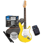 Ashton Electric Guitar Pack and Amp with SF50CH Chorus Pedal, Yellow SPAG232YL-SF50CH