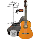 Ashton SPCG44AM Classical Pack, Music Stand and Tuner, Amber SPCG44AM-CPT50-MS3127