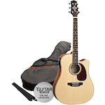 Ashton Electric Acoustic Guitar Pack, Natural SPD25CEQNT