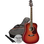 Ashton Acoustic Guitar Pack, Cherry Sunburst SPD25CSB