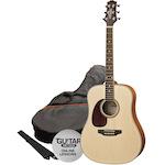 Ashton Acoustic Guitar Pack, L/Hand, Natural Matt SPD25LNTM