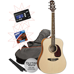 Ashton SPD25 Acoustic Pack in Natural Matt with Tuner and Strings SPD25NTM-CT170-AS1253