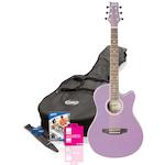 Ashton Small Body Acoustic Guitar Pack, Lavender SPFG48LS