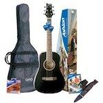 Ashton Acoustic Guitar Short Scale, Black SPJOEYCOUSTICBK