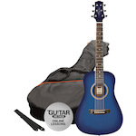 Ashton Acoustic Guitar Short Scale, Trans Blue Burst SPJOEYCOUSTICTBB