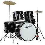 Ashton 5 Piece Drum Kit, Black TDR122BK