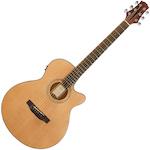 Ashton Electric Acoustic Solid Top Cut Away Guitar Natural TK45SCEQNCM