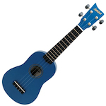 Ashton Ukulele, Blue w/ Matching Bag UKE100B