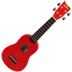 Ashton Ukulele, Red w/ Matching Bag UKE100R
