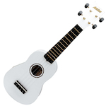Ashton Ukulele, White w/ Matching Bag UKE100W
