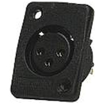 Whirlwind WC3FQ XLRF Connector Black WC3FQBK