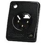 Whirlwind WC3MQ XLRM Connector Black WC3MQBK