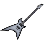 Ibanez Glaive Electric Guitar, Metallic Grey Burst XG300MGS