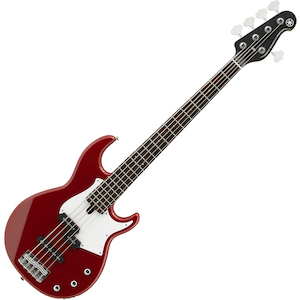 Yamaha BB235 BB 200 Series 5 String Bass Guitar, Raspberry Red