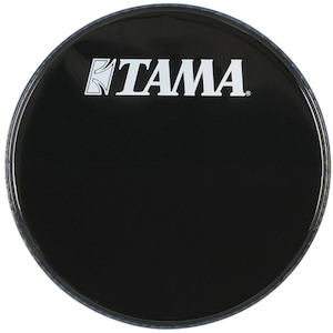 Tama 18 inch Logo Drum Head, Black